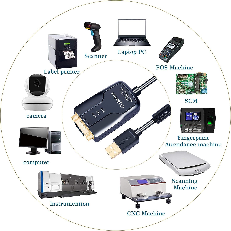 Android Linux ecc. per Win7 // Win8 // Win10 CQRobot RS485 o RS422 a USB Cavo Adattatore Convertitore Porta di Comunicazione Seriale MAC 3,2 Meter ME Con chipset FTDI FT232 300-921600bps SCM