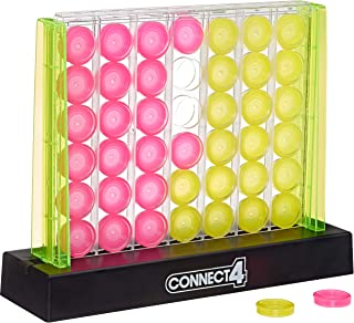 لعبة استراتيجية لعبة نيون بوب بورد كونيكت 4 للأطفال من سن 6 سنوات فما فوق للاعبين