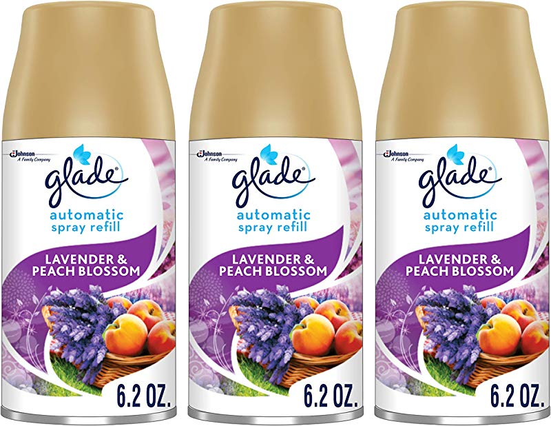 Glade Automatic Spray Refill Lavender Peach Blossom Fits In Holder For Up To 60 Days Of Freshness 6 2 Ounce Pack Of 3