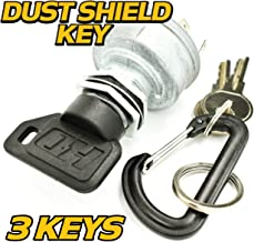 HD Switch John Deere Ignition Switch STX30 STX38 (Yellow Deck Only) : 3 Keys & Free Carabiner Compatible with John Deere