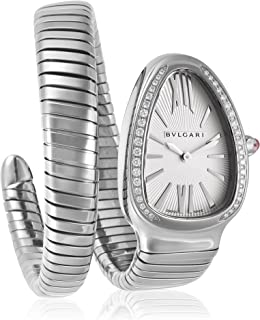 Serpenti Ladies Silver Face Diamond Watch SP35C6SDS.1T