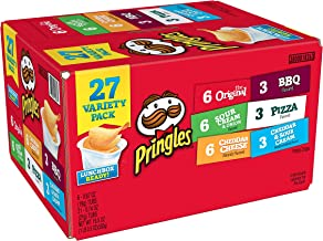 Pringles Snack Stacks Potato Crisps Chips, Flavored Variety Pack, Original, Sour Cream and Onion, Cheddar Cheese, BBQ, Piz...
