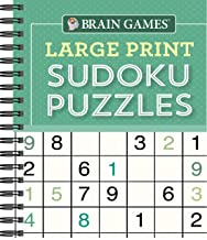 Brain Games – Large Print Sudoku Puzzles (Green)