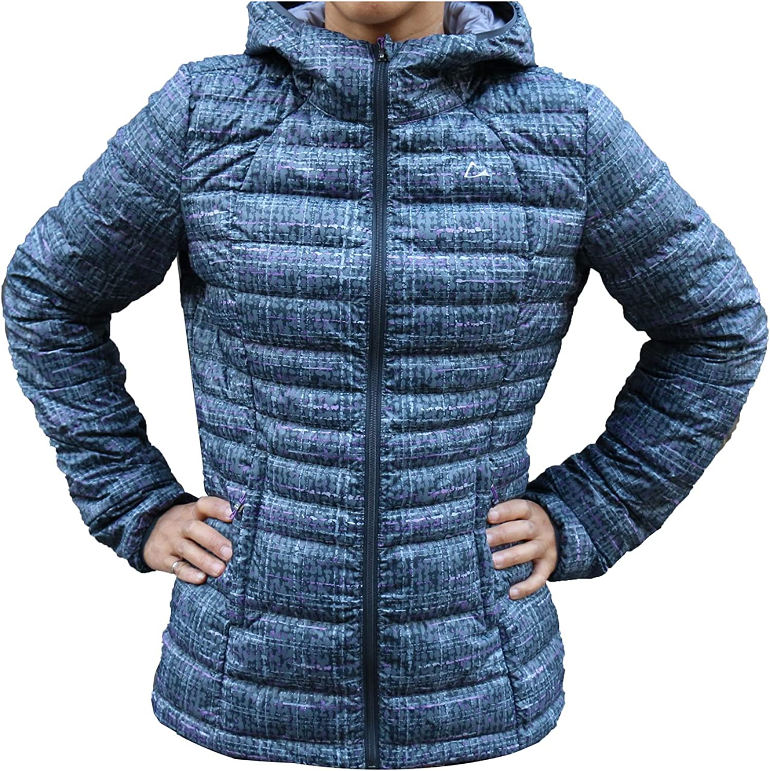 Paradox  Women's Packable Down Jacket with Hood  Purple Grey