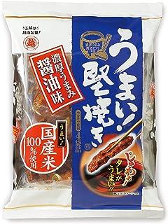 越後製菓 うまい! 堅焼き濃厚うまみ醤油味 96g×6袋