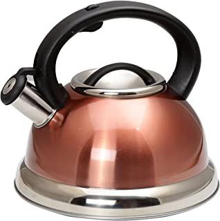 Creative Home 77066 Alexa Stainless Steel Whistling Tea Kettle with Aluminum Capsulated..