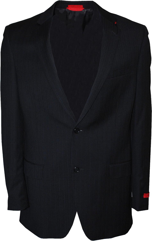 Alfani RED Men's Stripe Side Vents Two Button Wool Sport Coat Black