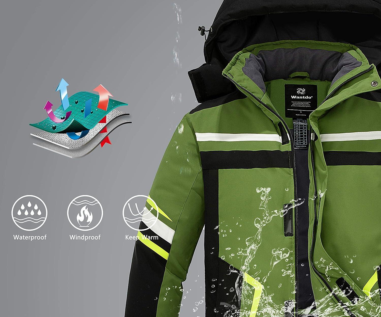 Wantdo Chaqueta de Esqu/í Impermeable Monta/ña Chaqueta de Snowboard a Prueba de Viento para Hombre Abrigo de Nieve C/álido Invierno Hombre