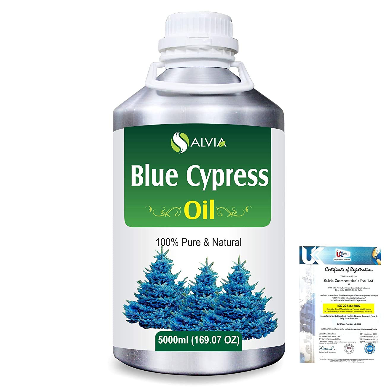 シールド債務者最後にBlue Cypress (Callitris Columellaris) 100% Natural Pure Essential Oil 5000ml/169fl.oz.