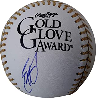 San Diego Padres Eric Hosmer Autographed Hand Signed Rawlings Official ROMLB Gold Glove Award Game Baseball with Proof Photo of Signing and COA, Kansas City Royals