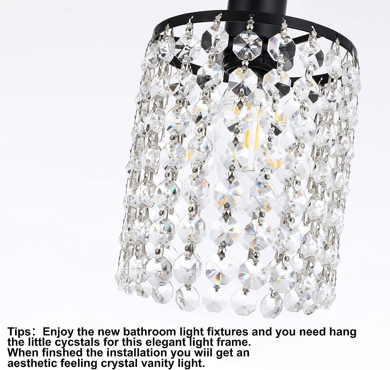 Buy Luburs Bathroom Light Fixtures Vanity Bath Light Wall Lamp Bar Interior Lighting Fixture Over Mirror Modern Style Matte Black Crystal Drop Bathroom Lighting Fixtures 4 Lights Exclude Bulb Online In Taiwan B0919g1qxl