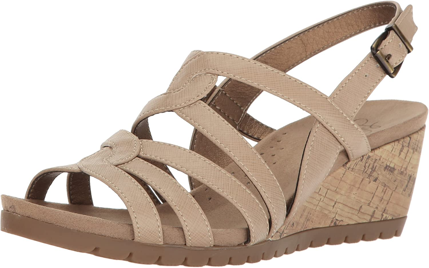 LifeStride Woherren Novak Wedge Sandal, Tender Taupe, 11 11 11 W US  021d86
