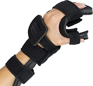 Stroke Hand Splint- Soft Resting Hand Splint for Flexion Contractures, Comfortably Stretch and Rest Hands for Long Term Ease with Functional Hand Splint, an American Heritage Industries(Left, Small)