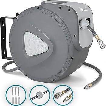 Perfekt ! Druckluftschlauch-Aufroller im Stahlgehäuse automatischer Rückzug