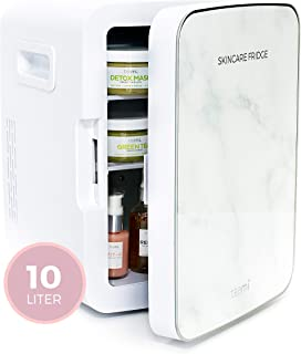 Teami Mini Fridge for Skincare - 10 Liter Compact Mini Refrigerator - Perfect for Bedroom or the Office. Store Bottles, Cans, Beauty Serums, Moisturizers, Oils, Toners, Face Masks, and Makeup