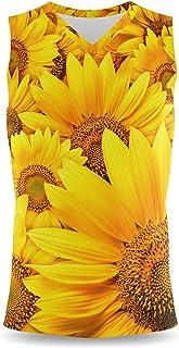 Rainbow Rules Sunflowers Mens Sleeveless Tank Top