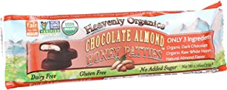 Heavenly Organics Almond Chocolate Honey Patties (16 Pack) Made with 100% Organic Cocoa and 100% Organic Raw White Honey; ...
