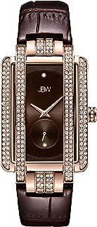 JBW Luxury Women's Mink 12 Diamonds & 280 Swarovski Crystals Croco-Embossed Leather Watch - J6358L-B