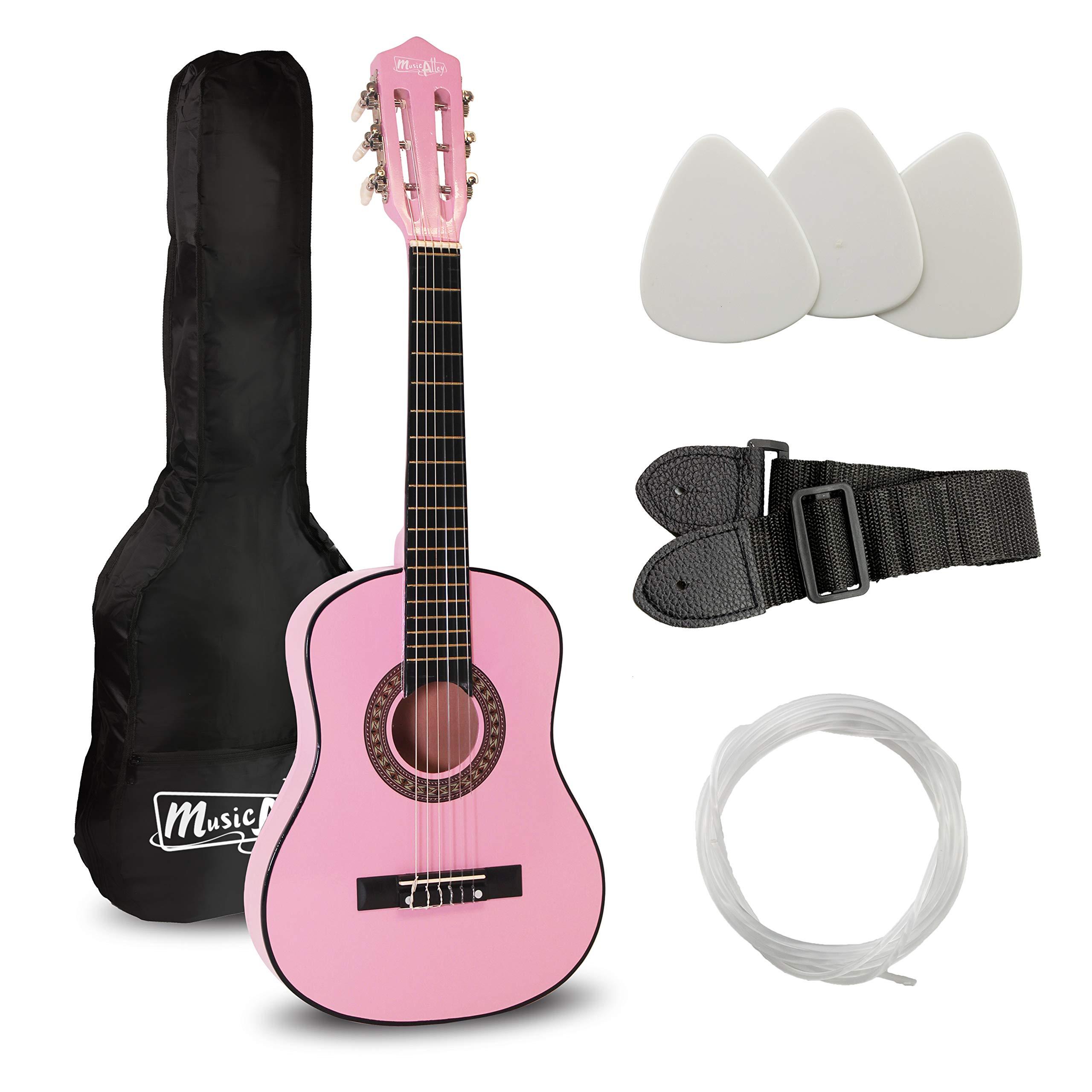Music Alley Guitarra acústica clásica de niños secundaria, color Rosa: Amazon.es: Instrumentos musicales