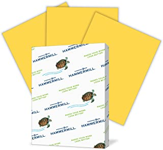 Hammermill Colored Paper, Goldenrod Printer Paper, 20lb, 8.5x11 Paper, Letter Size, 500 Sheets / 1 Ream, Pastel Paper, Colorful Paper (103168R)