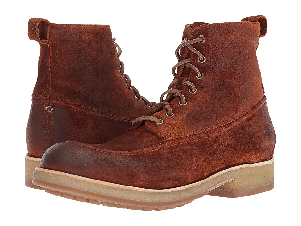 Frye Rainer Workboot (Rust Washed Waxed Suede) Men