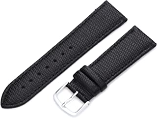 Hadley-Roma Women's LSL725RA 200 20-mm Black Java Lizard Grain Watch Strap