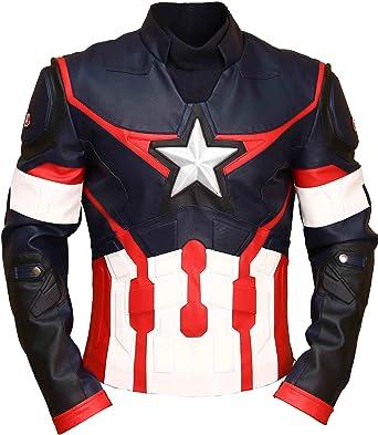 Age of Ultron Captain America Civil War Chris Evans Avengers - Chaqueta de piel