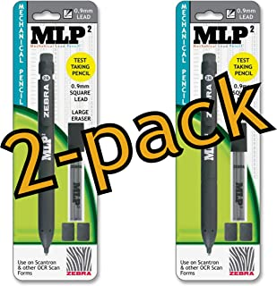 Value Pack of 2 Zebra MLP2 Square Lead Mechanical Pencil, 0.9mm, Assorted, 2 Pack (55301)