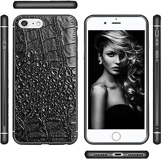 Bitstar iPhone 8 Plus / 7 Plus / 6 Plus Shockproof Case Croc Skin Theme | Black