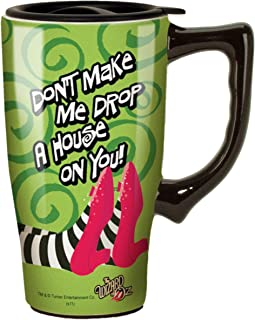 Wizard Of Oz 12013 Drop a House on You Ceramic Travel Mug, Green