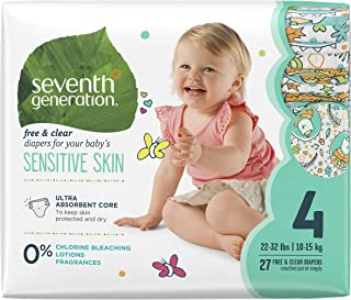 Seventh Generation Baby Diapers, Stage 4, Size 22-37 lbs, 27 Count