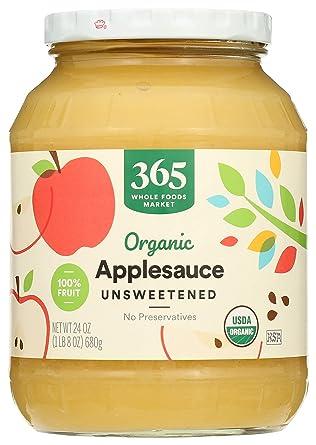 365 Applesauce Unsweetened Organic, 24 Ounce