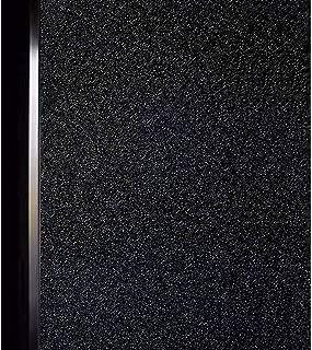 DUOFIRE Black Window Film Privacy Window Film Blackout Sun-Light Control Window clings No Glue Anti-UV Non Adhesive Window Matte Decorative Film, Super Dark Black, DT-C009 (17.4 x 78.7 Inch)