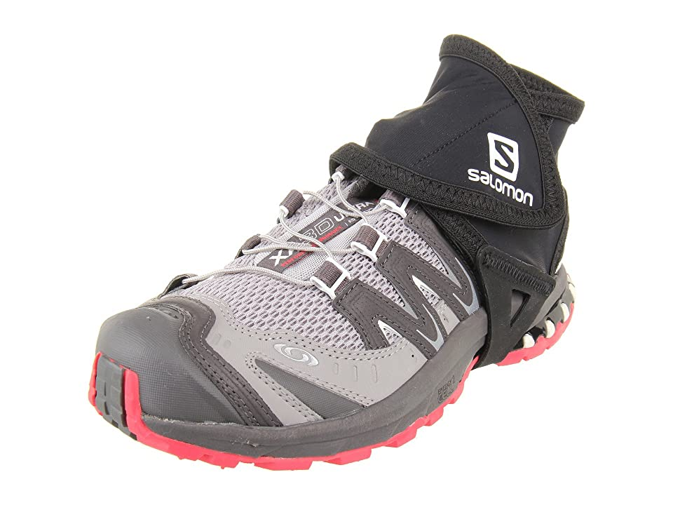 Salomon Trail Gaiters Low (Black) Overshoes Accessories Shoes