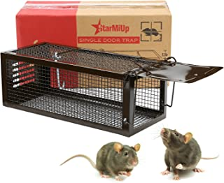 StarMiUp Rat Trap - Small Animal Humane Live Cage Catches Rats, Mice, Hamsters, Chipmunks and Other Small Rodents