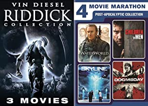 Anti-Hero Collection Pitch Black / Chronicles of Riddick & Dark Fury Vin Diesel + Apocalyptic Pack WaterWorld Kevin Costner / Children of Men / Skyline & Doomsday Sci-Fi Movie Marathon 7 Pack
