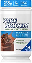 Natural Whey Protein Powder by Pure Protein, Gluten Free, Keto Friendly, Rich Chocolate, 1.6lbs