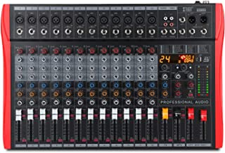 XTUGA RX120 USB 12-Channel Professional Audio Mixer Sound Card Built-in 24-bit DSP Digital Effect with Recordable Function...