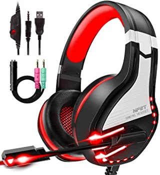 Npet HS10 Noise Cancelling Over-Ear Stereo Gaming Headset with Mic