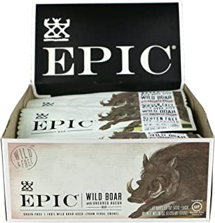 EPIC Wild Boar & Bacon Protein Bars, Natural Protein Bars, 1.5 oz. (12 Count)