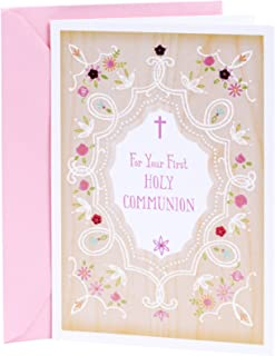 DaySpring Holy Communion Card for Girls (You`re Wished Every Grace and Blessing)