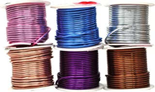 Mandala Crafts Anodized Aluminum Wire for Sculpting, Armature, Jewelry Making, Gem Metal Wrap, Garden, Colored and Soft, Assorted 6 Rolls (14 Gauge, Combo 10)
