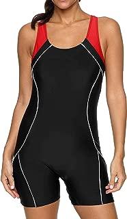 BeautyIn Women's Swimsuit Boyleg Racerback One Piece Athletic Bathing Suit