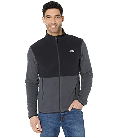 The North Face TKA Glacier Full Zip Jacket (Asphalt Grey/TNF Black) Men