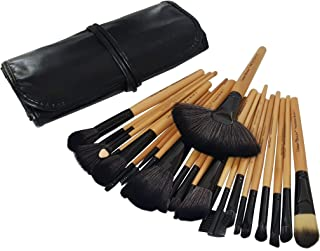 Urban Beauty Bamboo Makeup Brush Set with Storage Pouch-24 Pieces