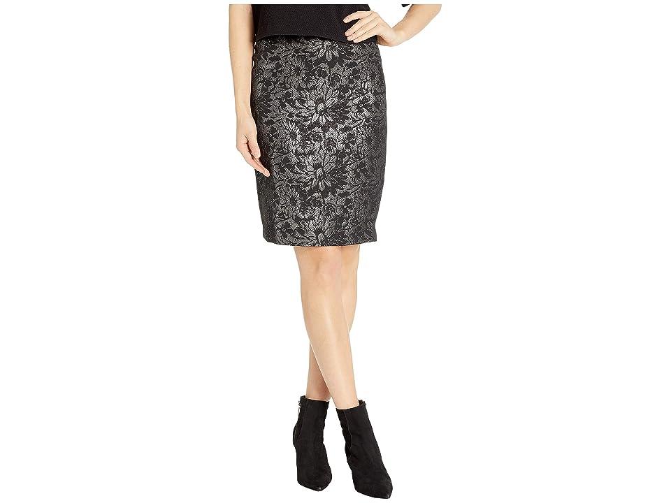 Calvin Klein Woven Skirt (Black/Silver) Women