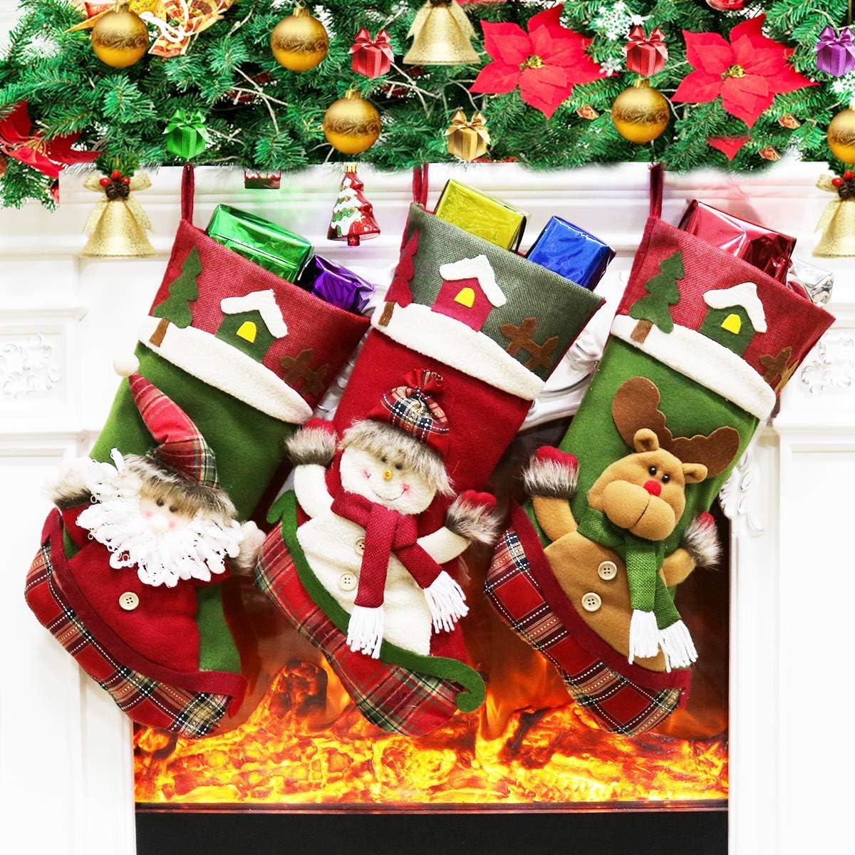 Christmas Stocking Dreampark Ranking TOP7 3 Pack Xmas Big Santa Sno Cheap mail order sales