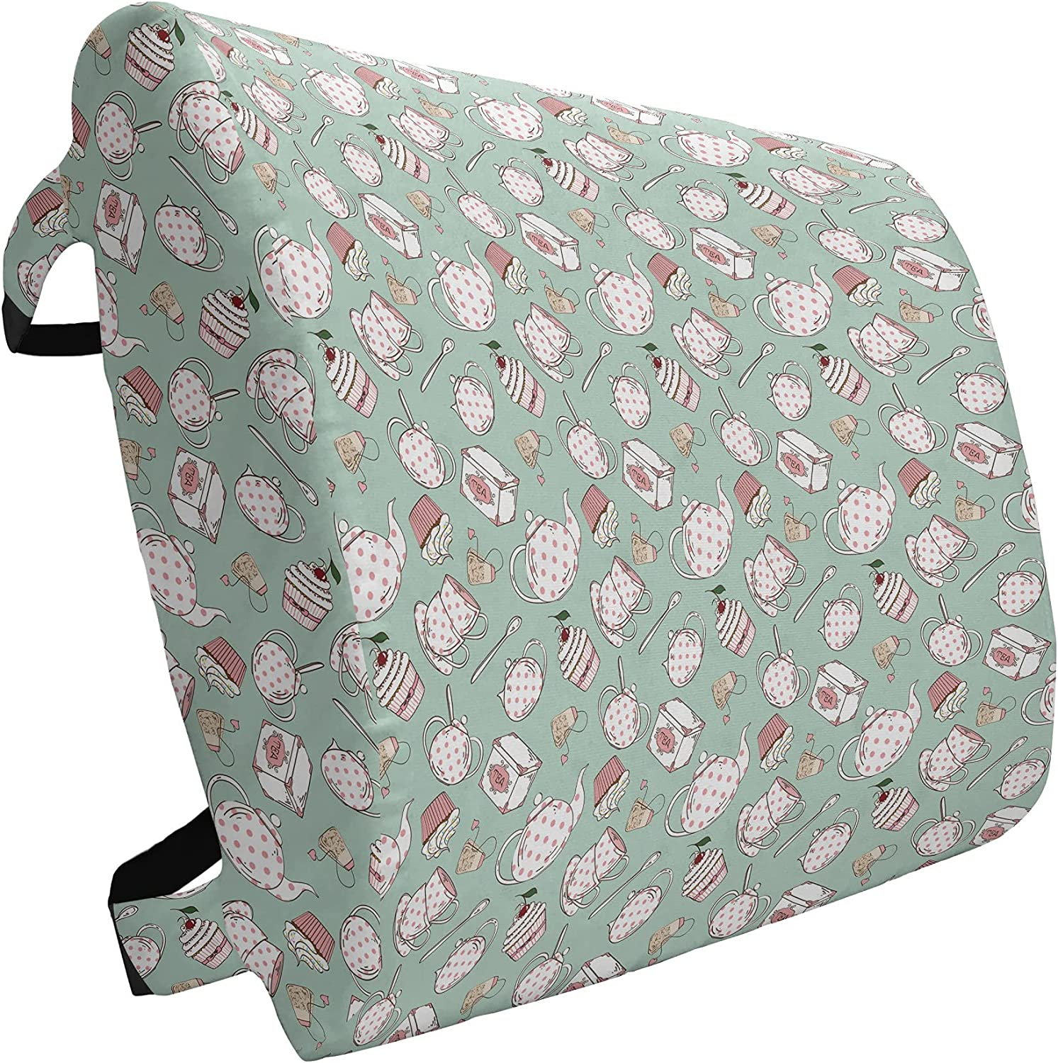 Ambesonne Tea Party Lumbar Selling and selling Pillow Polka and Teapots on Animer price revision Dots Cup