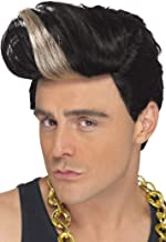 Smiffy's Men's 90's Rapper Wig Quiff Wig with Highlight