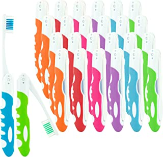 25 Pack Folding Toothbrushes